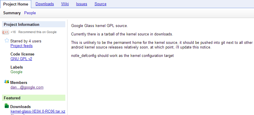 Glass source code