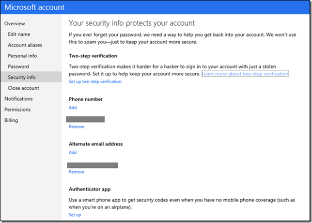 microsoft accounts security