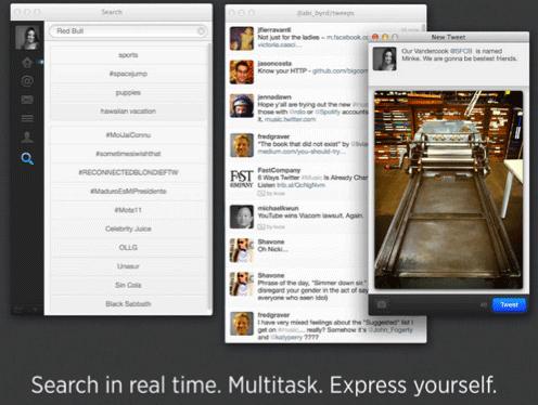 تحديث تطبيق تويتر على أجهزة ماك لدعم شاشات الريتينا