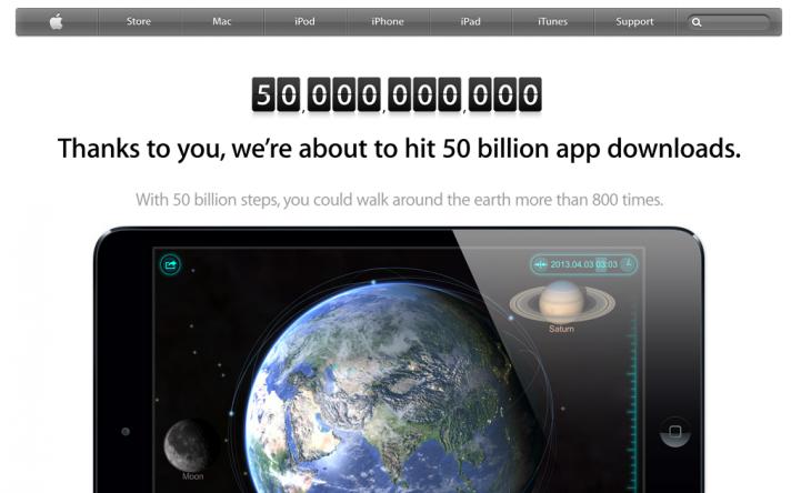50 billion app store download