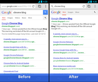 Chrome1 updated Chrome browser on Android brings the full screen feature
