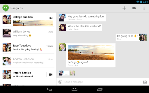 Hangouts unified platform chat Hangouts will support SMS
