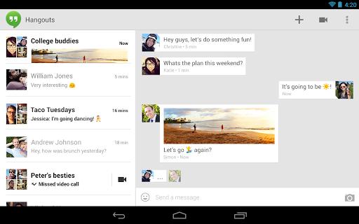 Hangouts قوقل تعلن عن منصة الدردشة الموحدة Hangouts