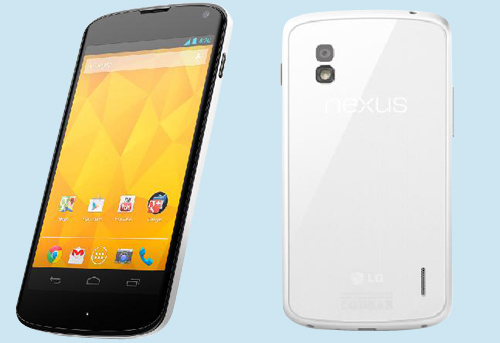 LG NEXUS4 WHITE LG officially launches the White Nexus 4