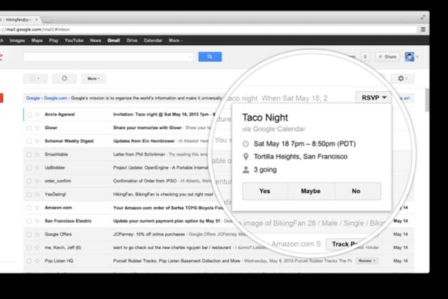 RSVPScreenshot large جي مايل يحصل على زر التفاعل السريع مع الرسائل