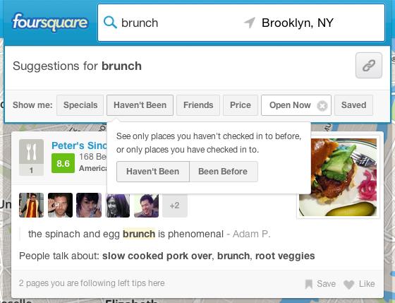 foursquare filters فورسكوير تضيف معايير فرز جديدة لنتائج البحث