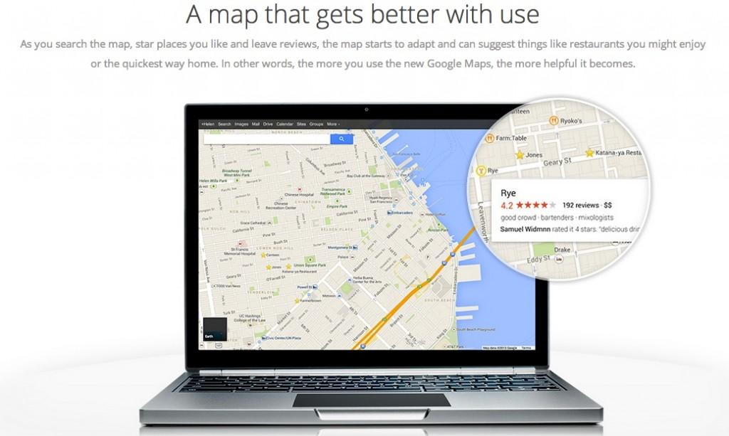 gm1 1024x613 لقطات مسربة للإصدار الجديد من خرائط جوجل