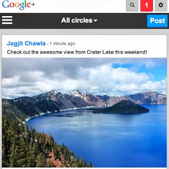 google plus mobile web