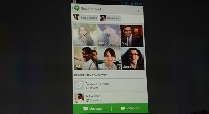 Hangouts هي إجابة جوجل على الواتس آب