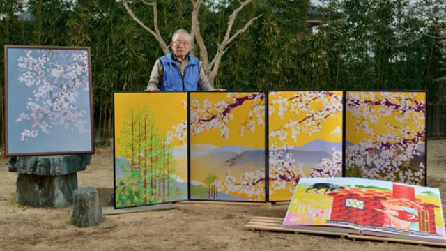 ku xlarge old Japanese creates paintings on Excel
