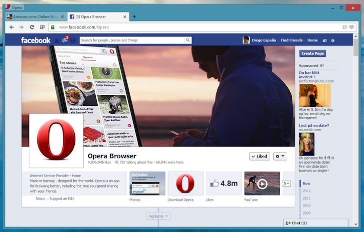 opera win facebook subsidized Opera 15 of chromium is ready for download