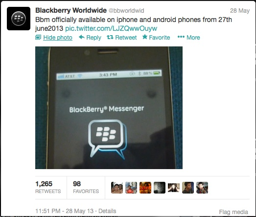 BBM2 BlackBerry Messenger coming to Android and iOS on June 27, 2013