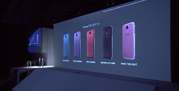 galaxy s4 colors