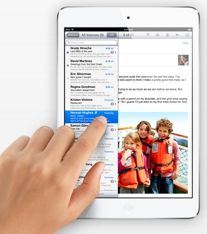 ipad mini front email iPad Mini 2 will be delayed to November