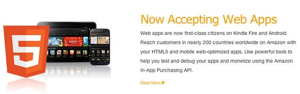 متجر تطبيقات أمازون يدعم تطبيقات الويب للأندرويد Amazon-appstore-web-apps