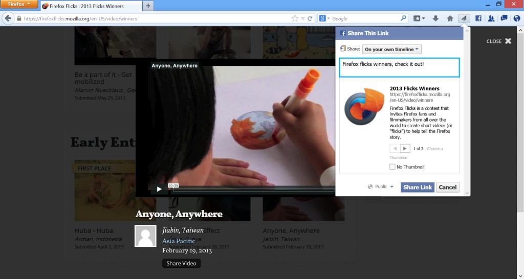 firefox share موزيلا تطلق النسخة 23 من متصفحها فايرفوكس
