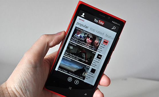 youtube on windows phone