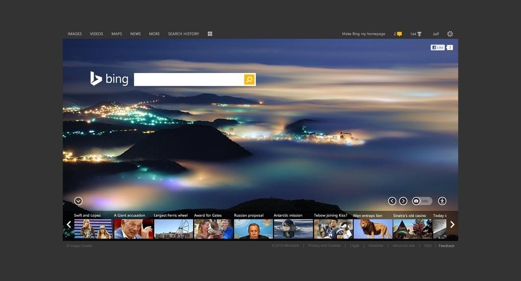 بينج الصفحة الرئيسية مايكروسوفت تُعيد تصميم وشعار محرك البحث Bing