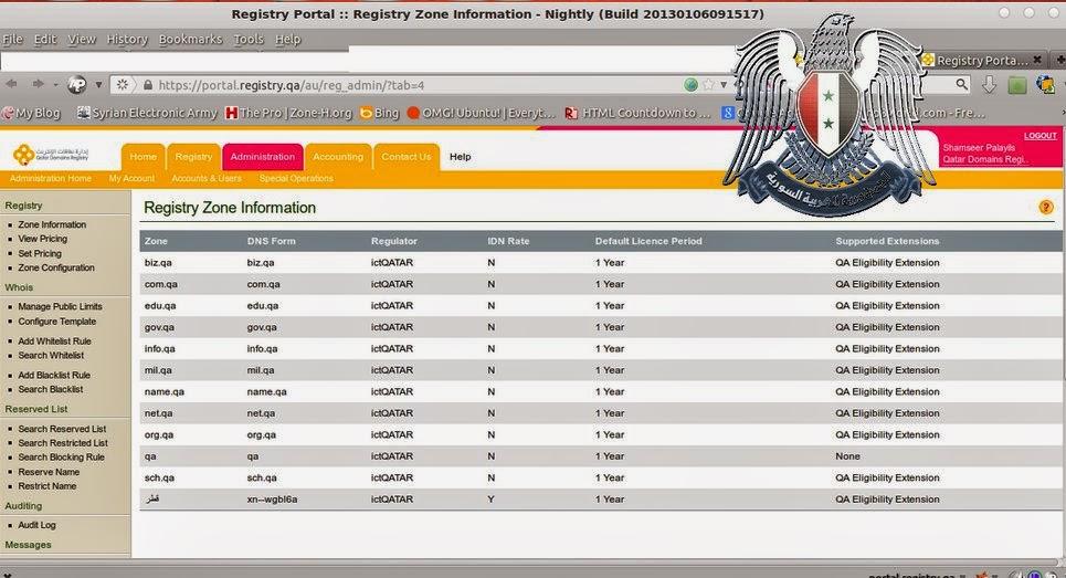 الجيش السوري الإلكتروني الجيش السوري الإلكتروني يخترق أهم المواقع القطرية