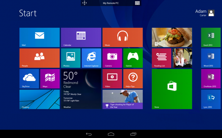 android 730x456 مايكروسوفت تطلق تطبيق Remote Desktop على الأجهزة الذكية