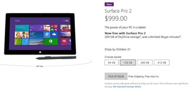 surfacepro2soldout