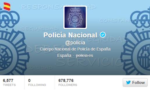 الشرطة الإسبانية على تويتر