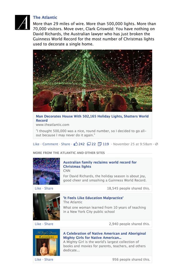 مقالات ذات صلة على فيس بوك