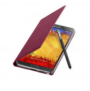 Galaxy-Note3-FlipCover_004_Open-Pen_Plum-Magenta