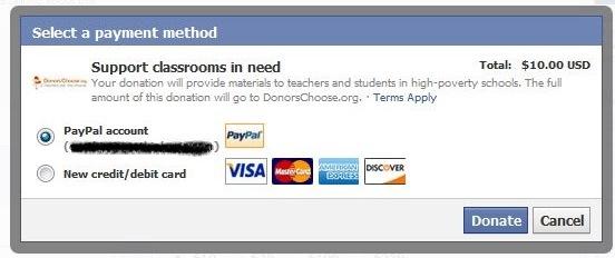 fb donate pay 1 فيس بوك يضيف زر التبرع للصفحات غير الهادفة للربح