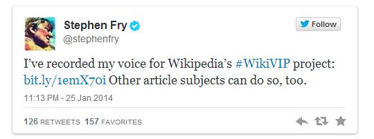ويكيبيديا توثق أصوات المشاهير صفحاتهم