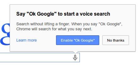 تفعيل بحث صوتي كروم تحديث كروم يسمح بالبحث الصوتي بدون النقر