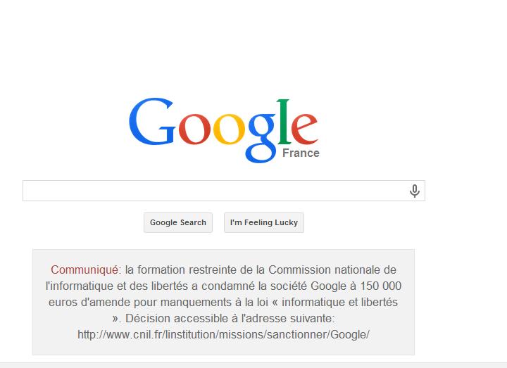 غرامة قوقل فرنسا قوقل تنشر على موقعها أنها انتهكت خصوصية المستخدمين ودفعت غرامة أكثر من 200 ألف دولار