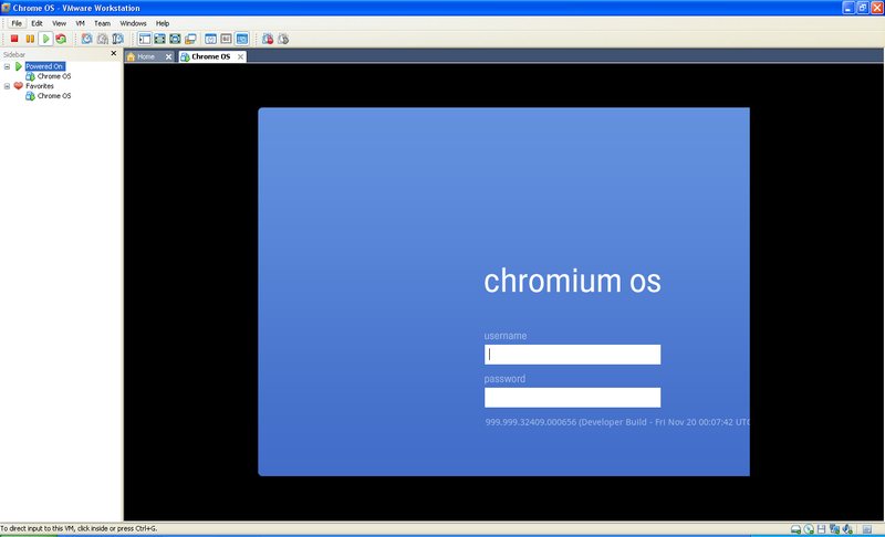 chrome os vmware