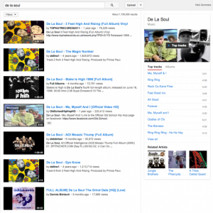 YouTube now promotes top tracks and playlists when you search for music