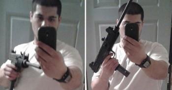 اعتقال شاب صوّر نفسه بمدفع رشاش على الفيس بوك!