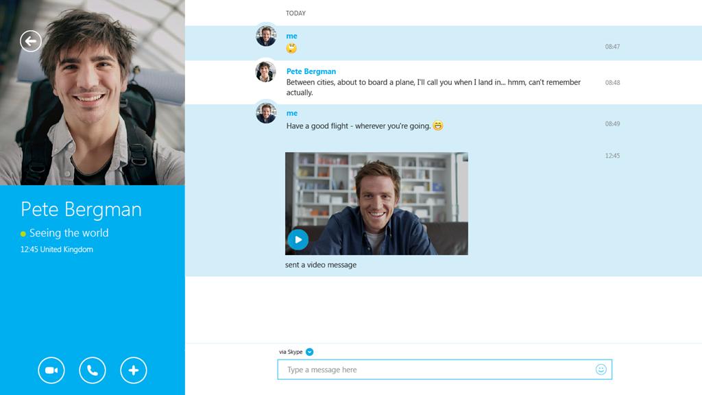 Skype for modern Windows