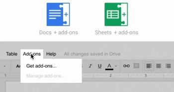 جوجل تجلب بعض الإضافات الخارجية لخدمتي Docs و Sheets على درايف