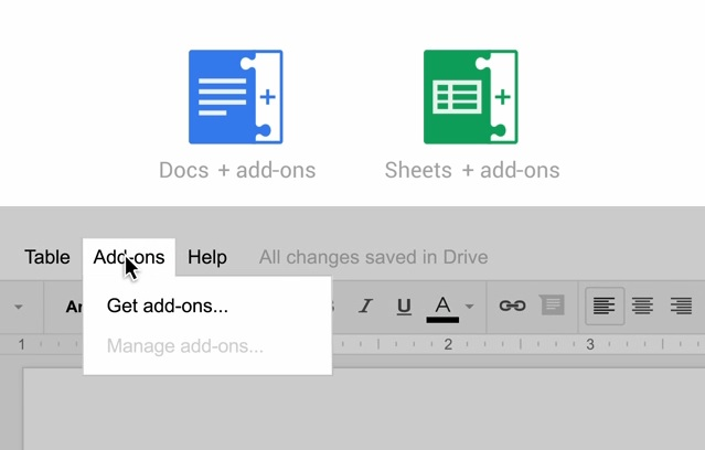 google drive add-ons