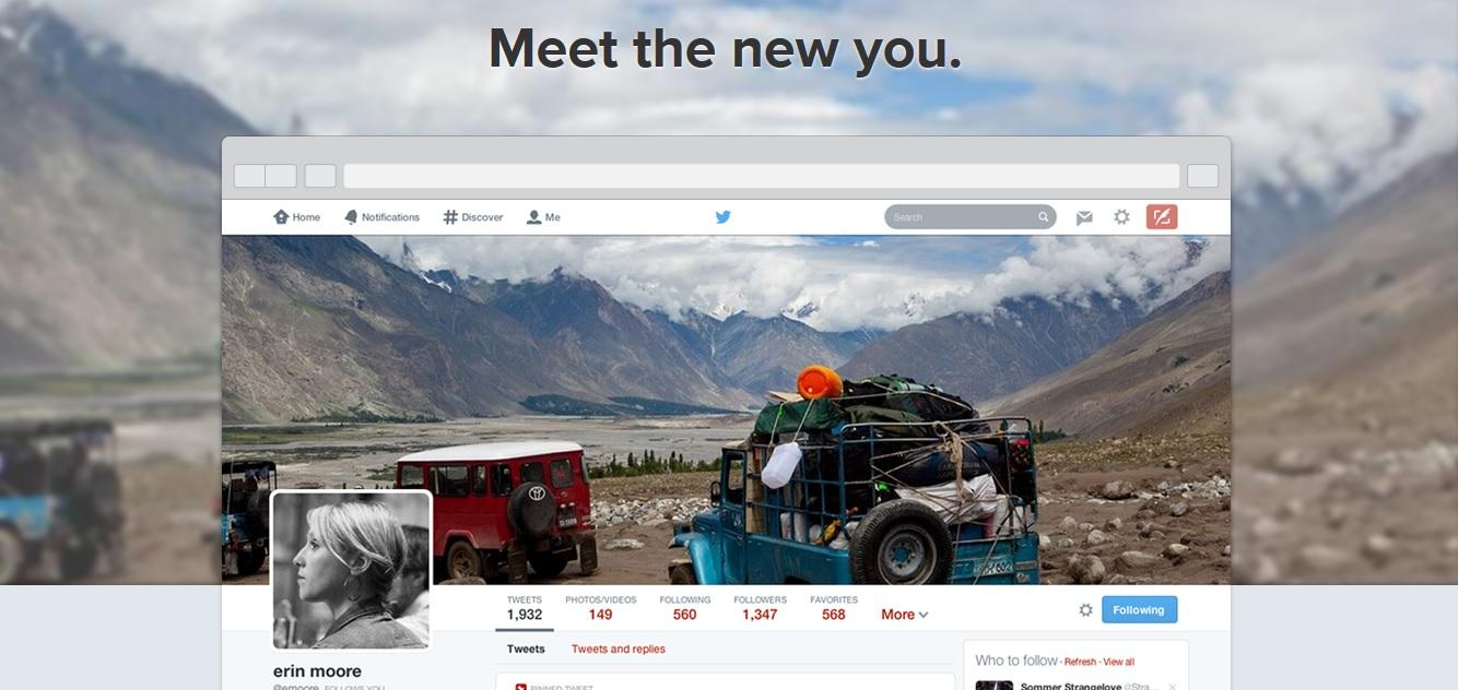 Twitter new design