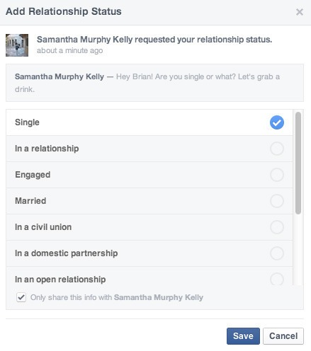 Facebook4 فيس بوك تتيح عرض الحالة الاجتماعية لأشخاص محددين