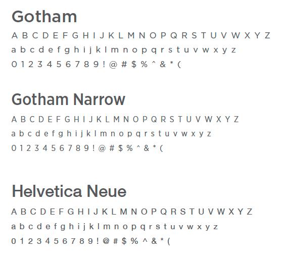 Helvetica Neue to Gotham
