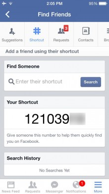 fb shortcuts