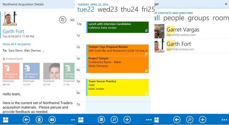 مايكروسوفت أوتلوك على أندرويد