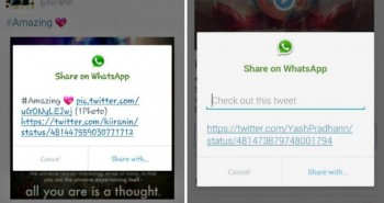 تويتر تختبر زر مشاركة التغريدات مع الواتساب على الأندرويد