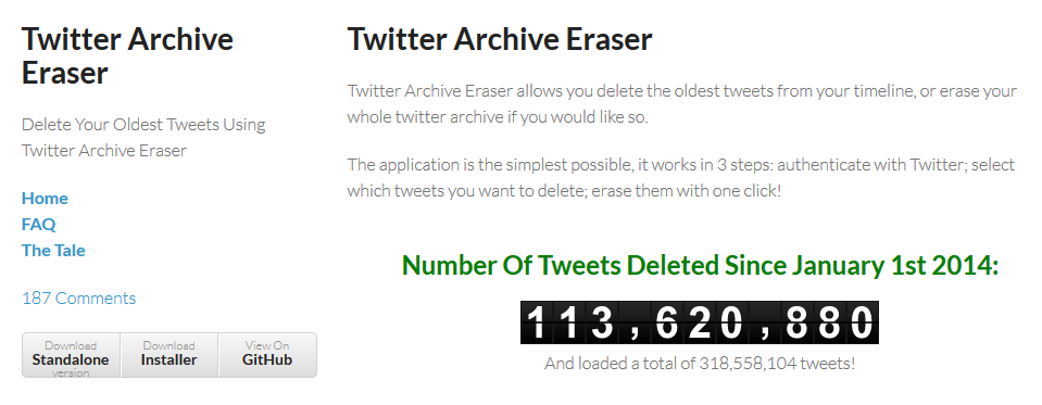 تخلص من تغريداتك القديمة