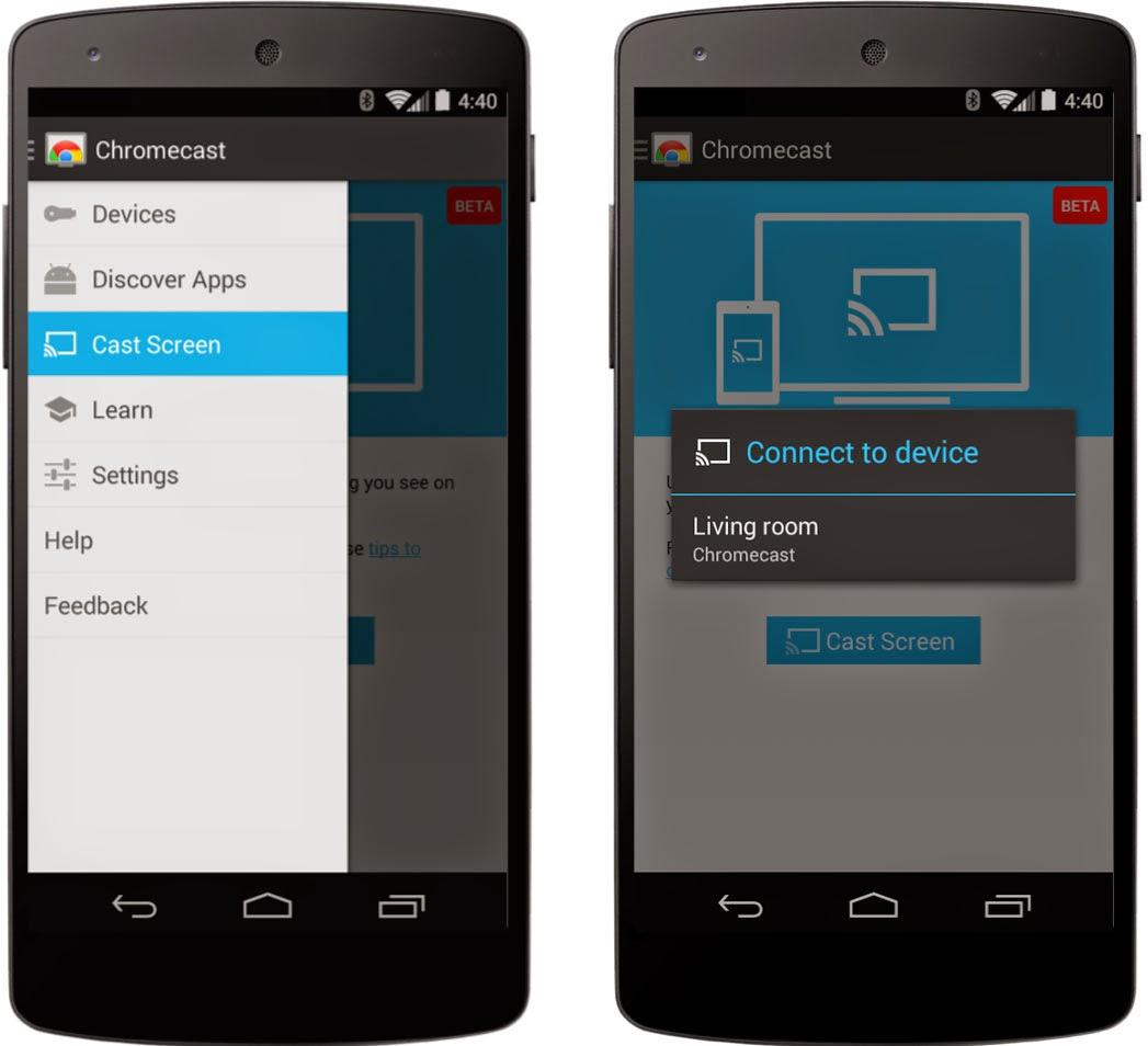 الآن يمكنك بث كل مايعرض على شاشة هاتفك إلى شاشة التلفاز - عالم التقنية
