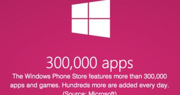 مايكروسوفت: 300 ألف تطبيق ويندوز فون في متجرنا