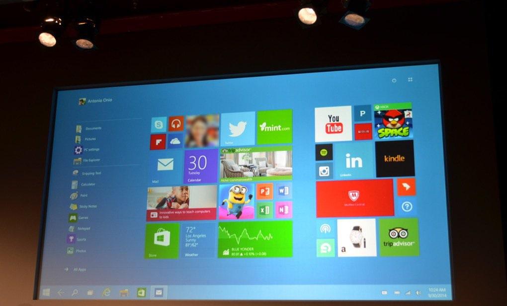 شاشة البداية الجديدة تواصل مؤتمر مايكروسوفت: شاشة البداية الجديدة قادمة بنمط Continuum