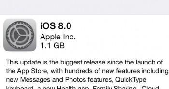 آبل تبدأ بإرسال تحديث نظام التشغيل iOS 8