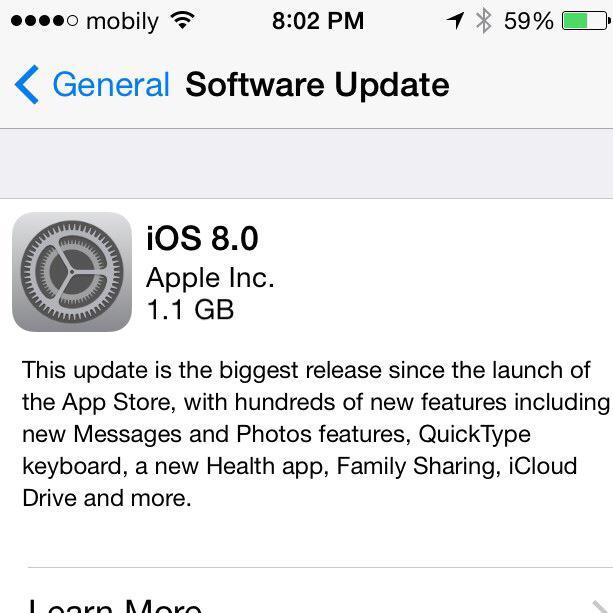 10685072 10152491463518445 1156178163 n آبل تبدأ بإرسال تحديث نظام التشغيل iOS 8